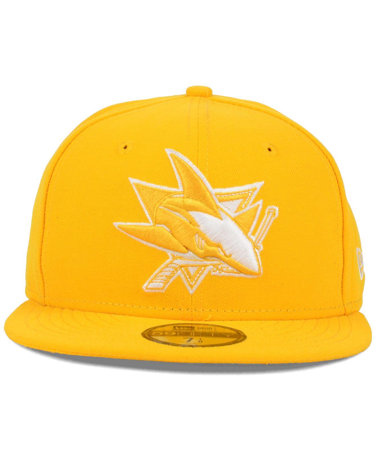 newest e293d d849f Lyst - KTZ San Jose Sharks C-dub 59fifty Cap in Yellow for Men
