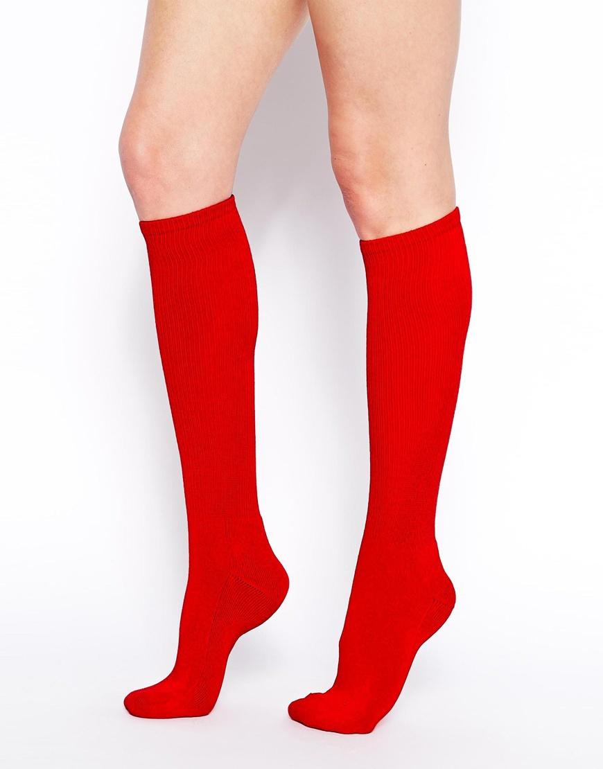 Gallery. Women's Knee High Socks - American Apparel Knee High Socks In Red Lyst
