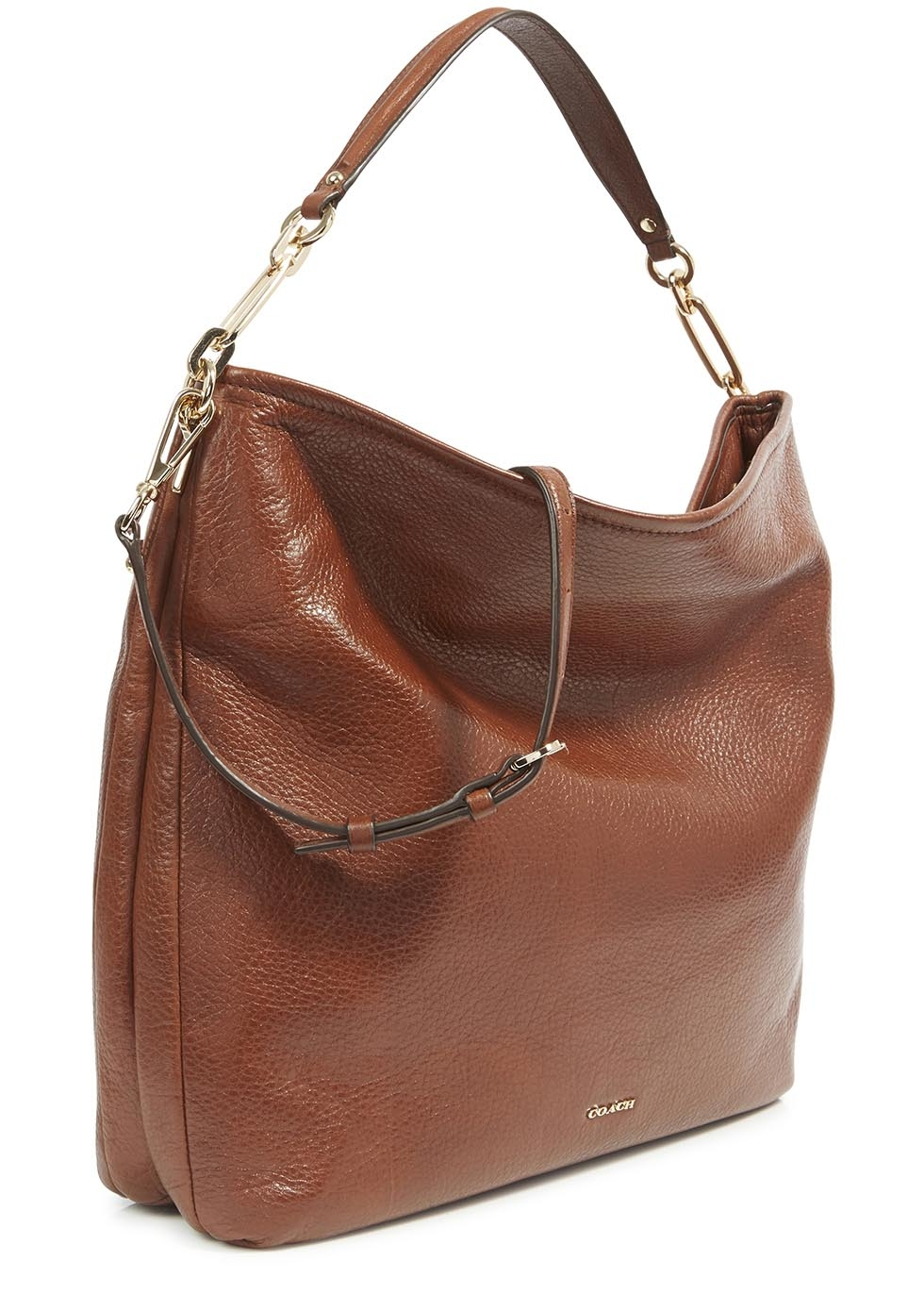 Coach Madison Brown Grained Leather Hobo Bag In Brown Lyst