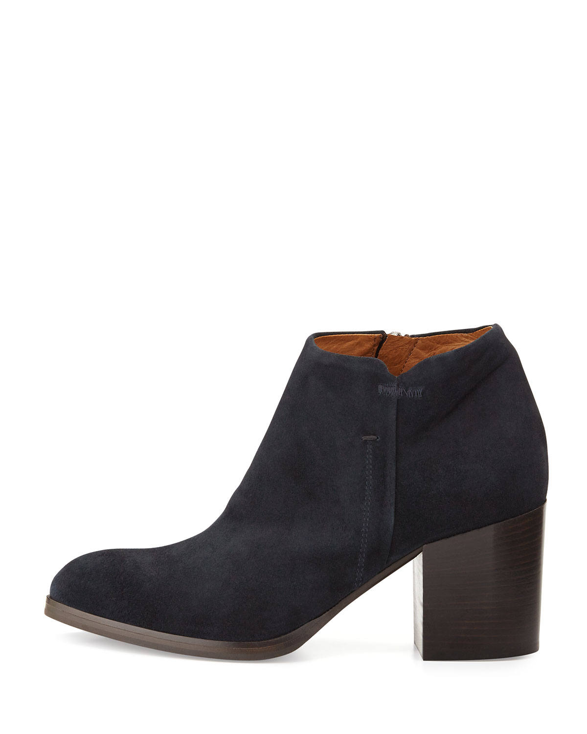 Alberto fermani Anzio Low-Cut Suede Ankle Boot in Blue | Lyst