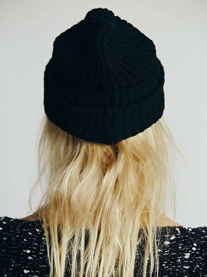 Lyst - Free People Womens Capsule Slouchy Beanie in Black db0da48282c9