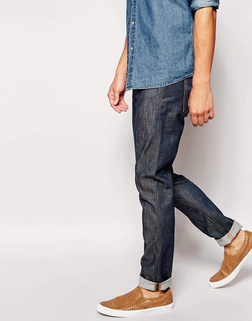 Appuyer Dean Slim Jeans En Denim Organique Sec Jeans Nudie iRvDYaV