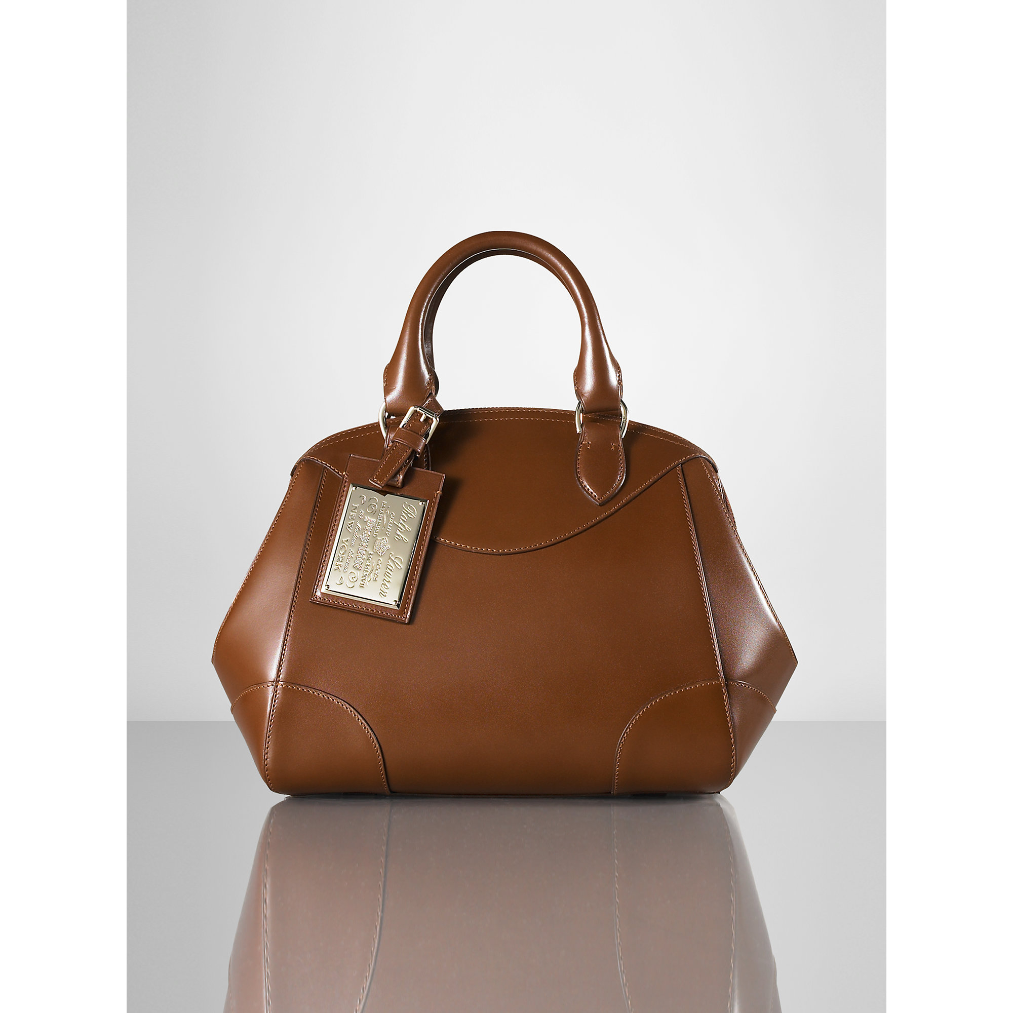 c57238529e ... spain lyst ralph lauren small bedford bag in brown f0024 e7df3