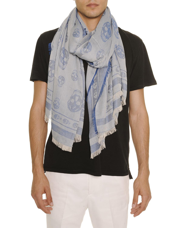 Mcqueen alexander skull scarf men