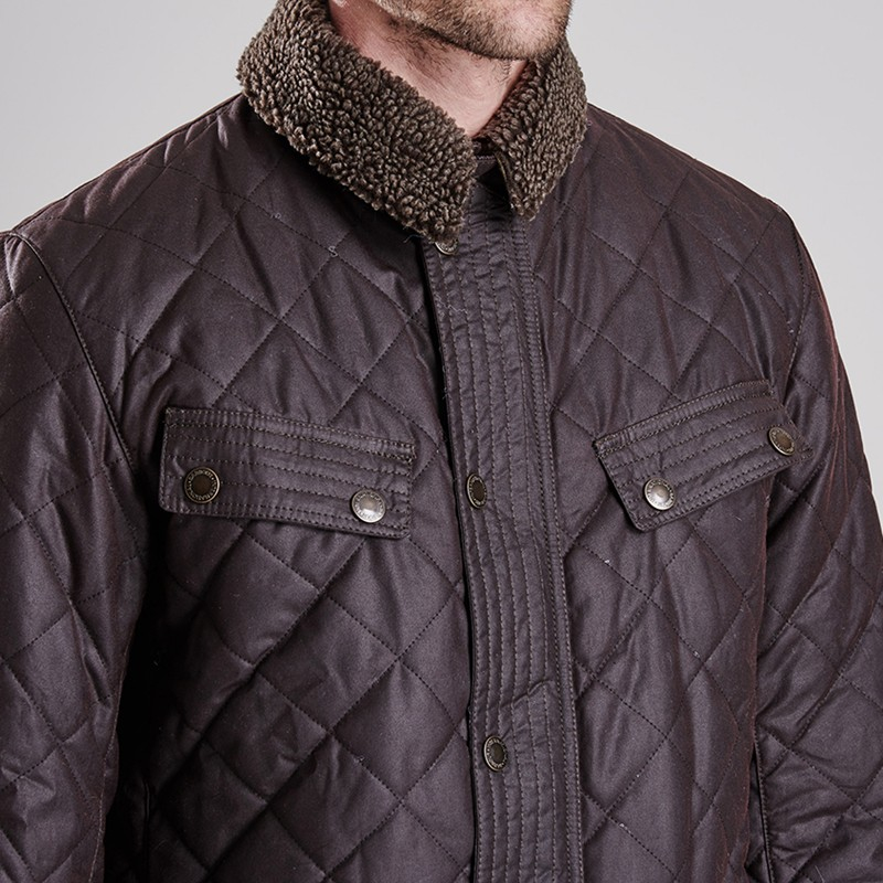 Lyst - Barbour Speedometer Waxed Quilted Jacket in Brown for Men : barbour quilted waxed jacket - Adamdwight.com