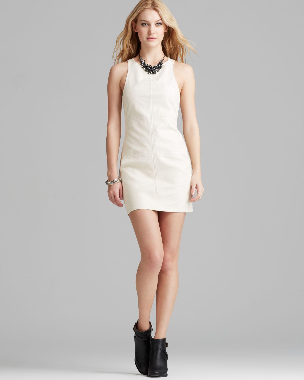 Minkpink Dress Faux Leather Shift in White  Lyst