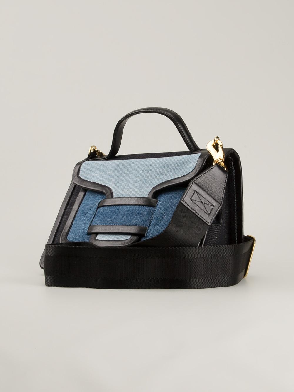 Rally Handbag in Blue Suede and Denim Pierre Hardy qTJf6Oj4qm