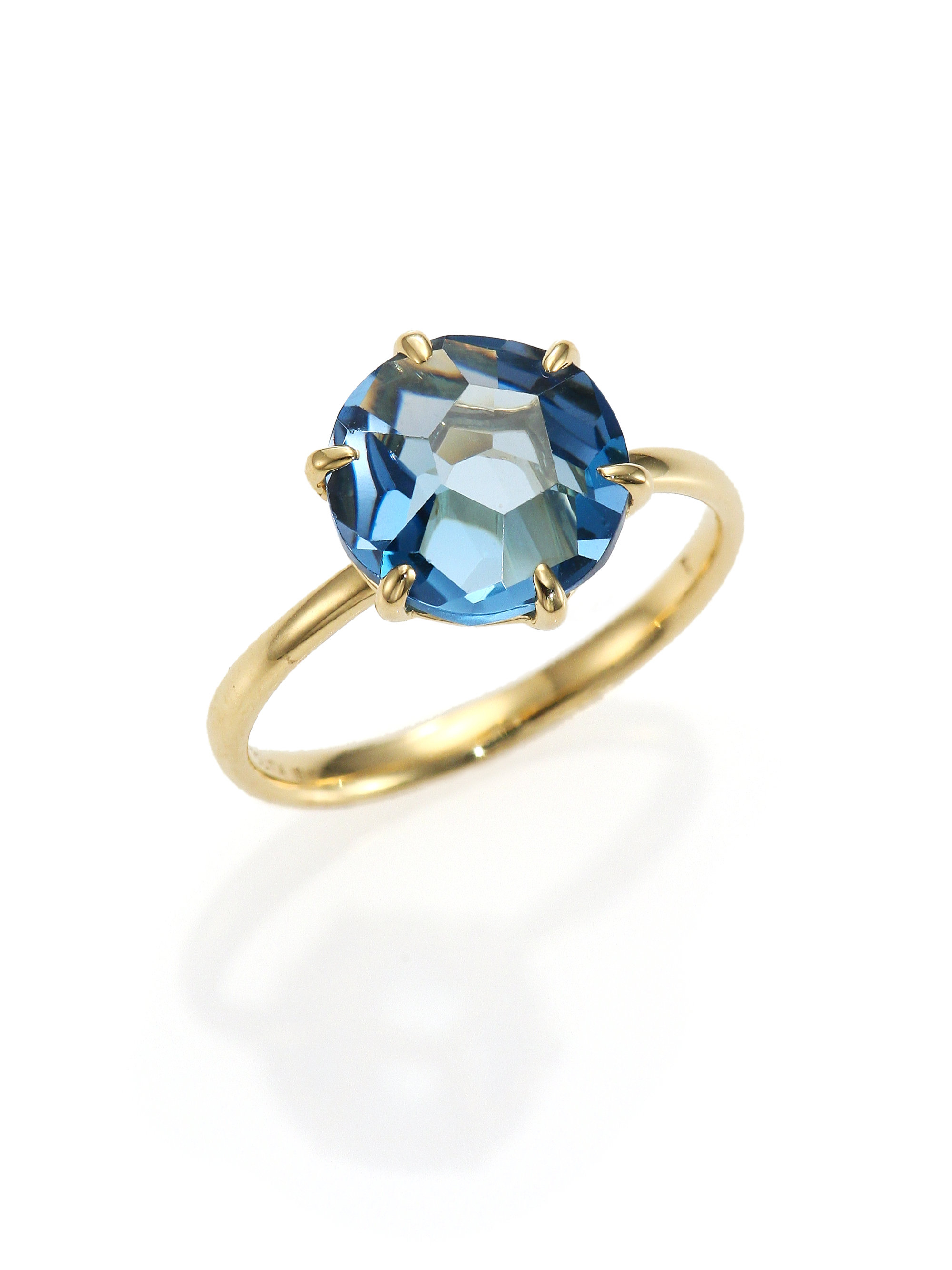 Lyst - Ippolita Rock Candy London Blue Topaz & 18k Yellow ...