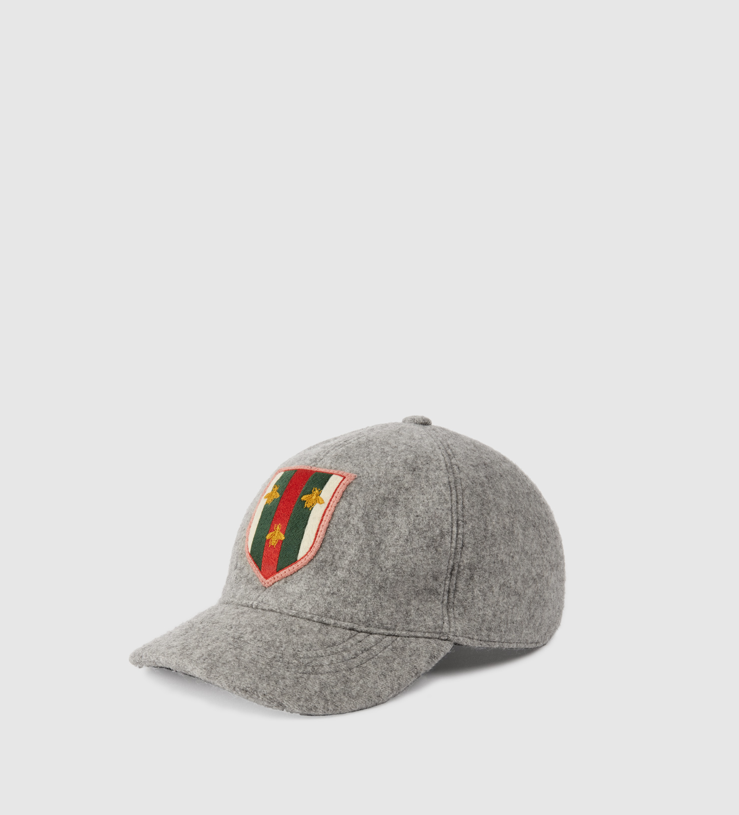 ef0d5b33c3d Gucci Felt Hat With Web Crest And Bees in Gray for Men - Lyst