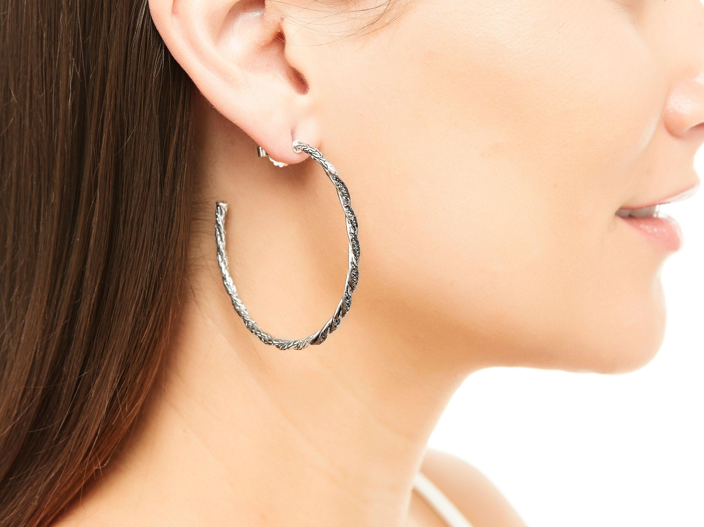 John Hardy Padi Large Hoop Earrings FKgkw1