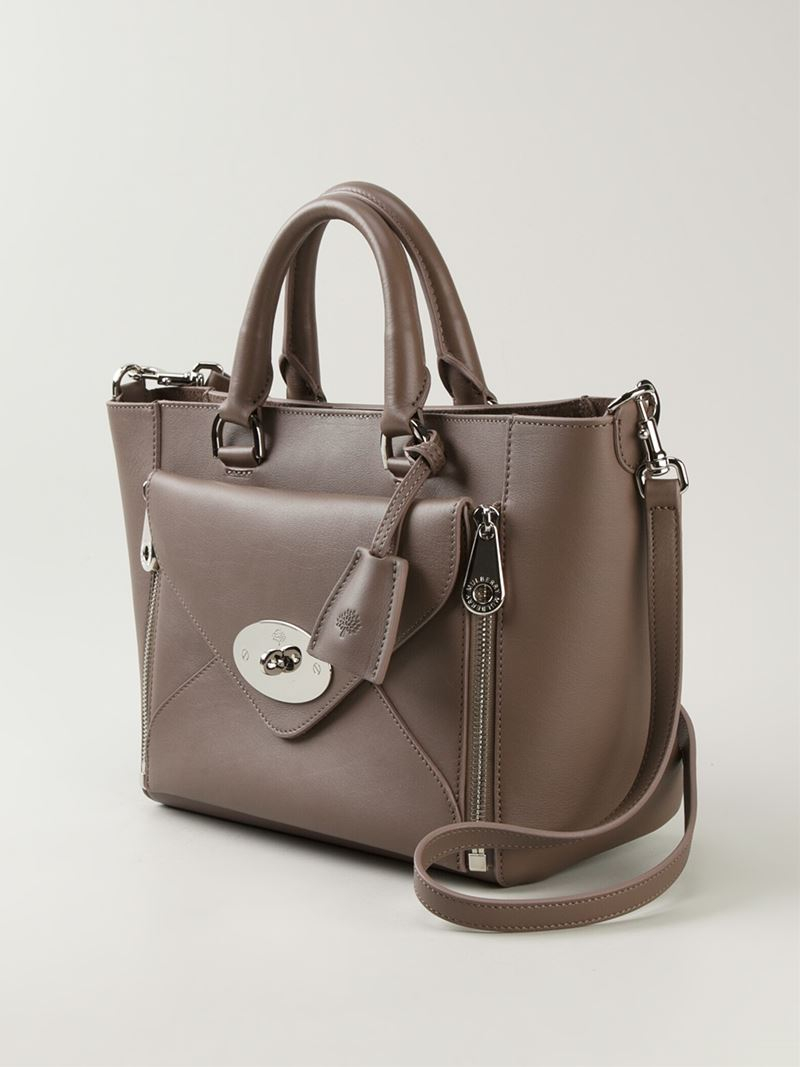 a32fe039832d ... denmark lyst mulberry small willow tote in gray 710b3 0f819