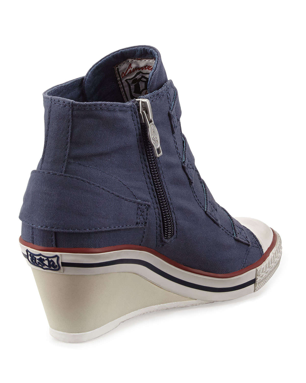 38fa702f86f Lyst - Ash Genialbis Buckled Wedge Sneakers in Blue