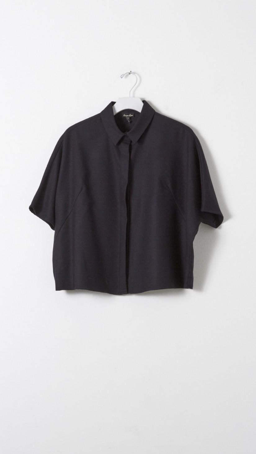 lyst steven alan damen shirt in blue. Black Bedroom Furniture Sets. Home Design Ideas