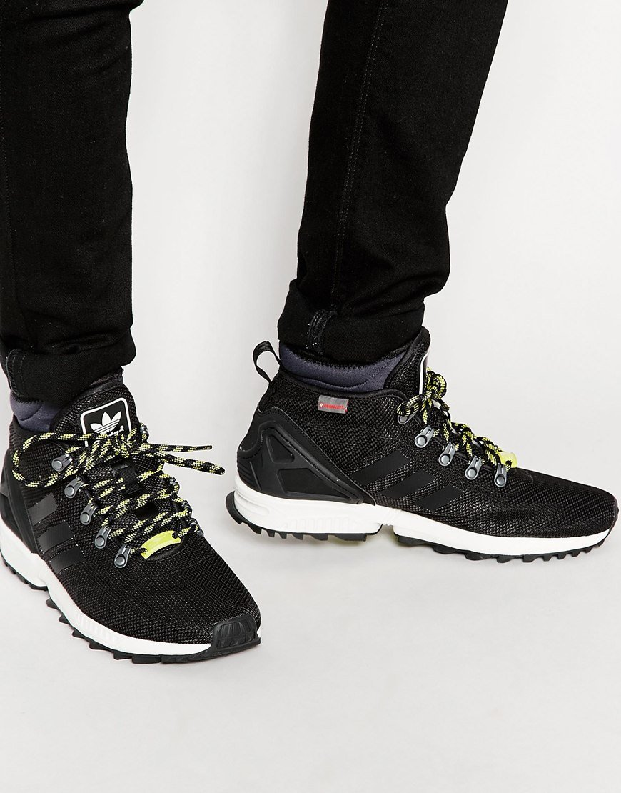 hot sale online 0fb00 5dc20 where can i buy adidas zx flux winter black 88534 0b53d