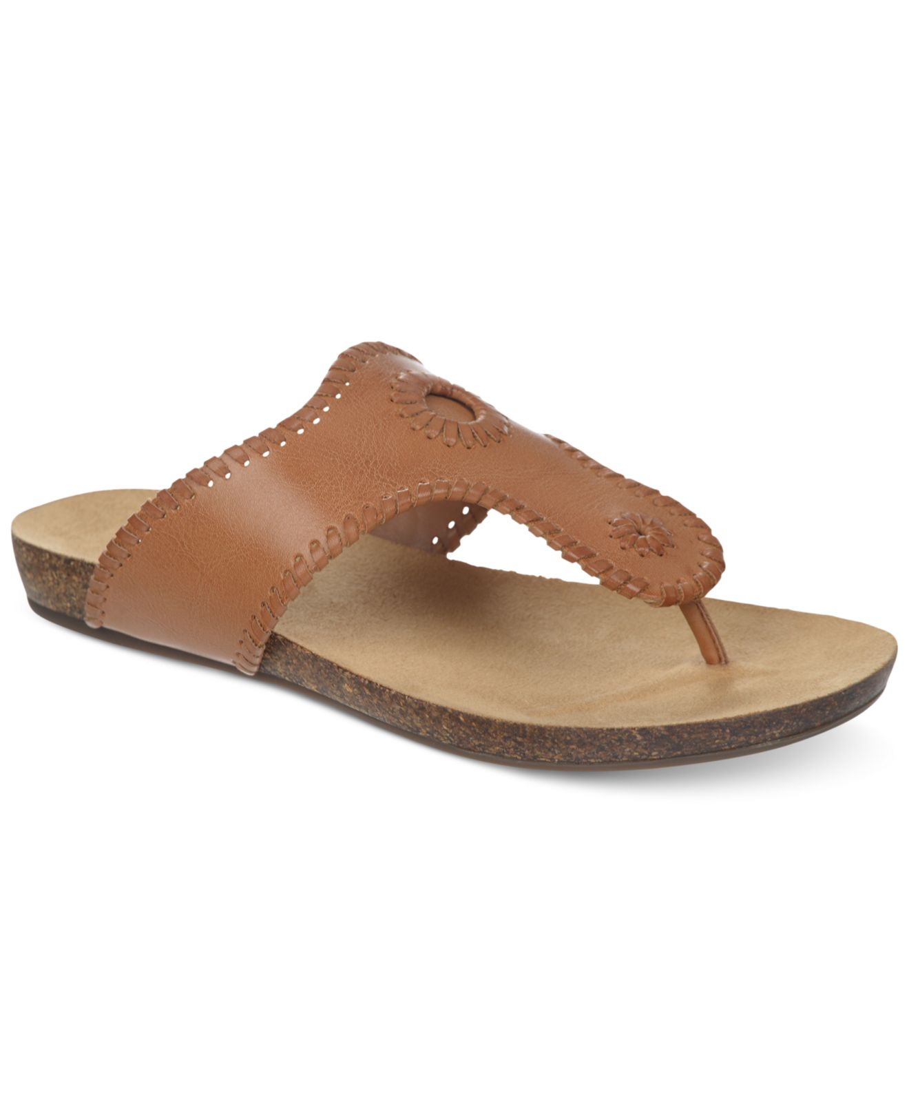 3c9114160da3 Lyst - Dr. Scholls Ridley Footbed Thong Sandals in Natural