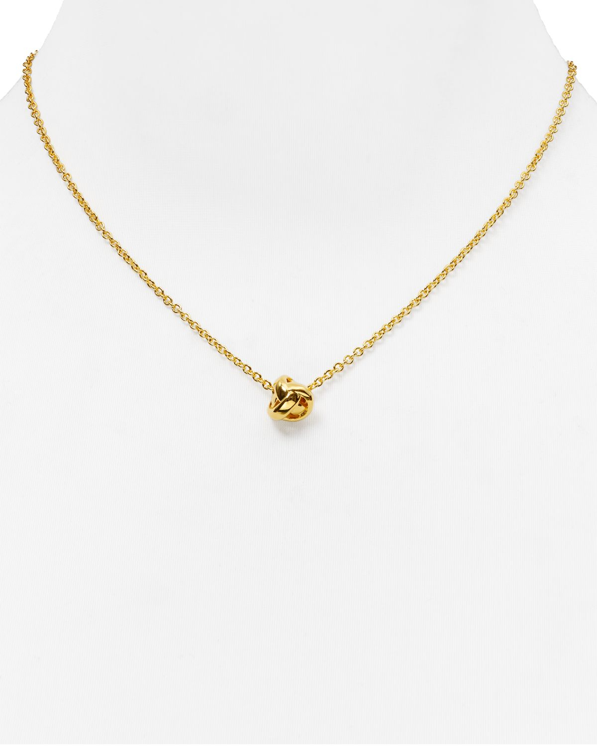 kate spade dainty sparklers knot pendant necklace 17 quot in