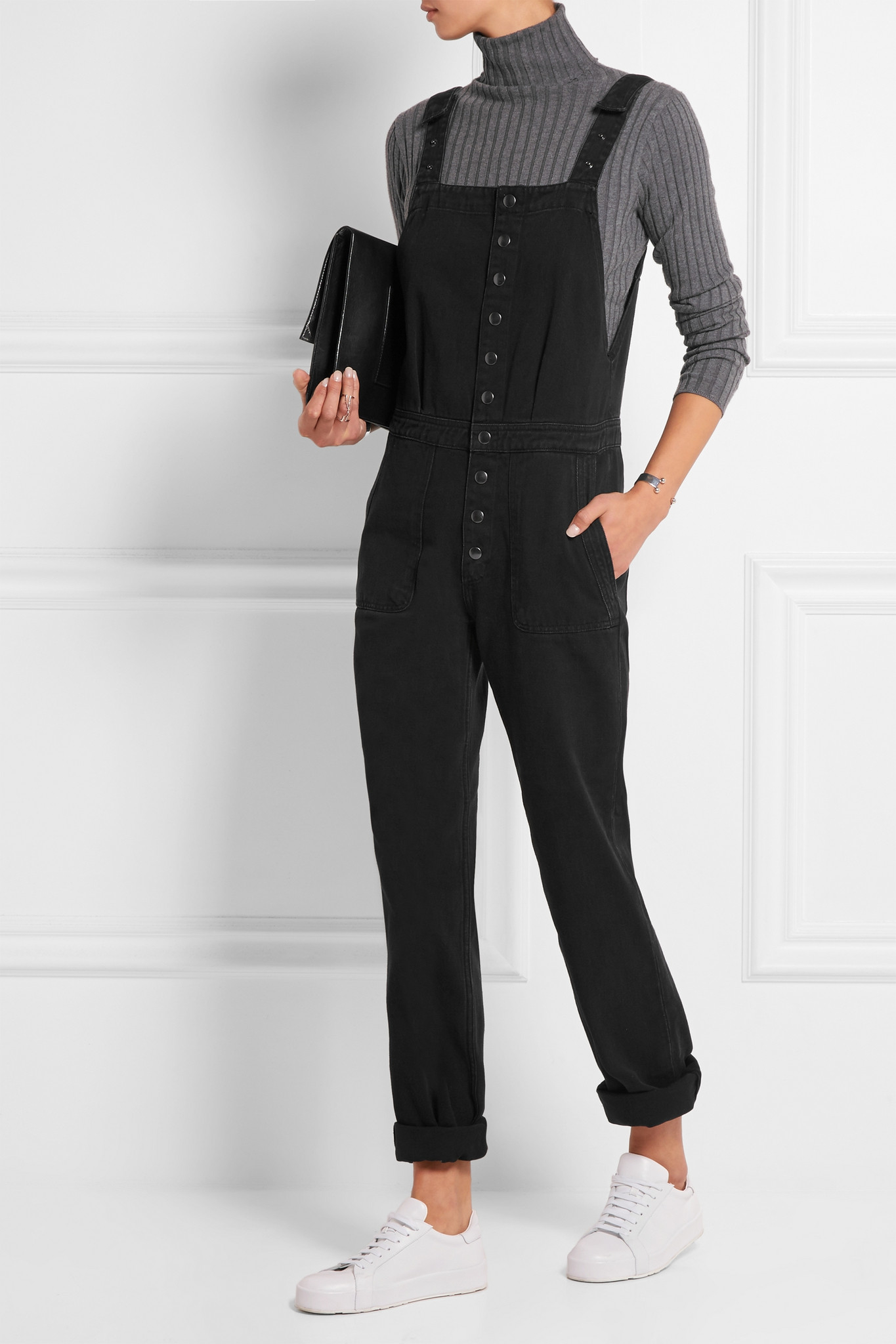 ba7075935f65 Lyst - M.i.h Jeans Clint Denim Overalls in Black