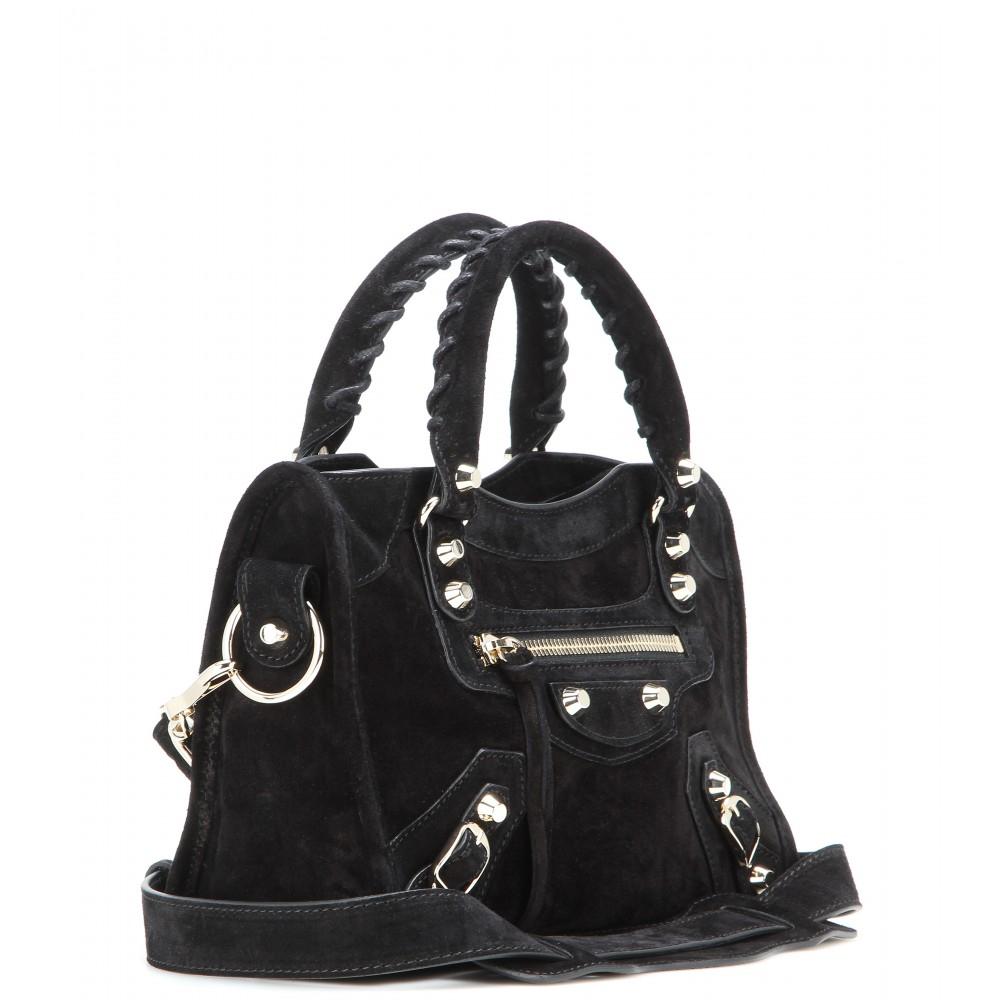 Balenciaga City Bag Black Suede