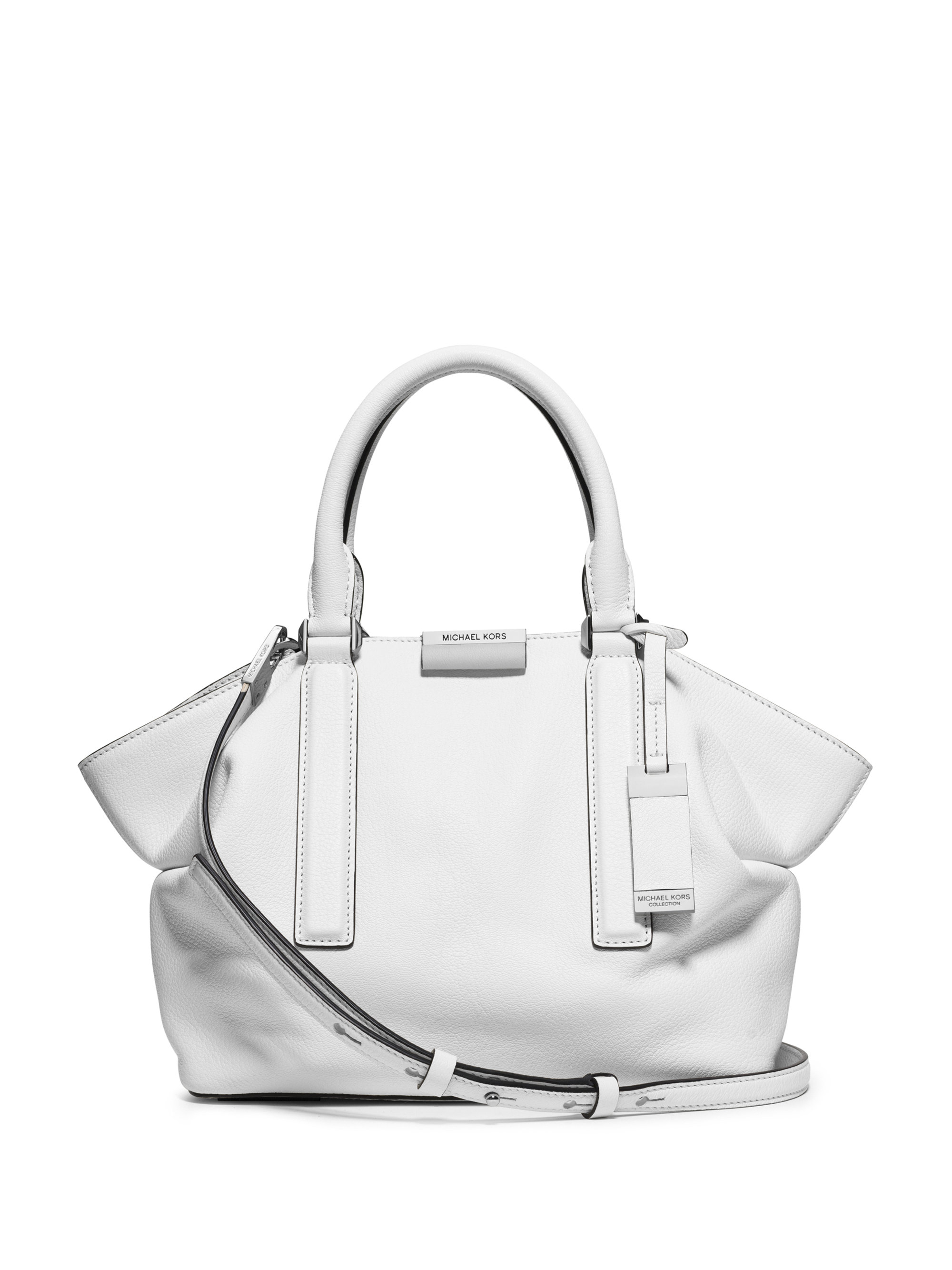 6c7016c68873 Michael Kors Lexi Small Satchel in White - Lyst