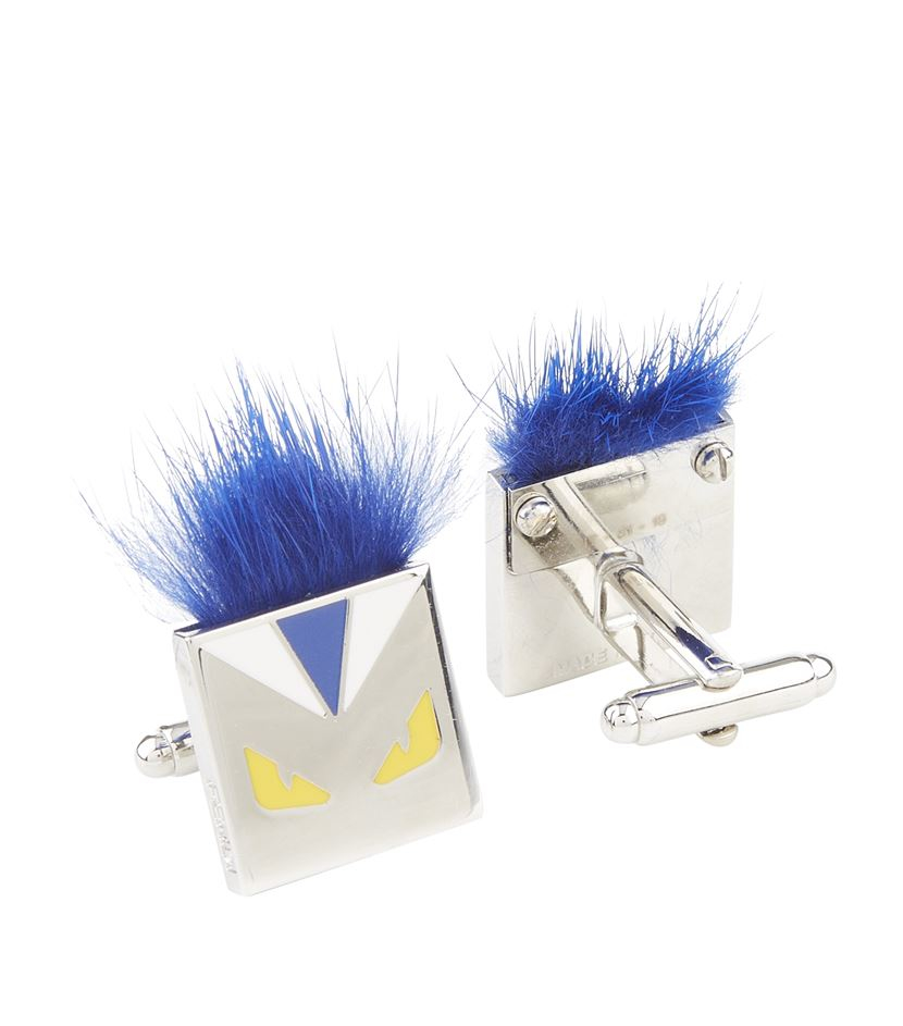 eb2ae223d523 Fendi Fur Karl Cuff Links in Blue for Men - Lyst