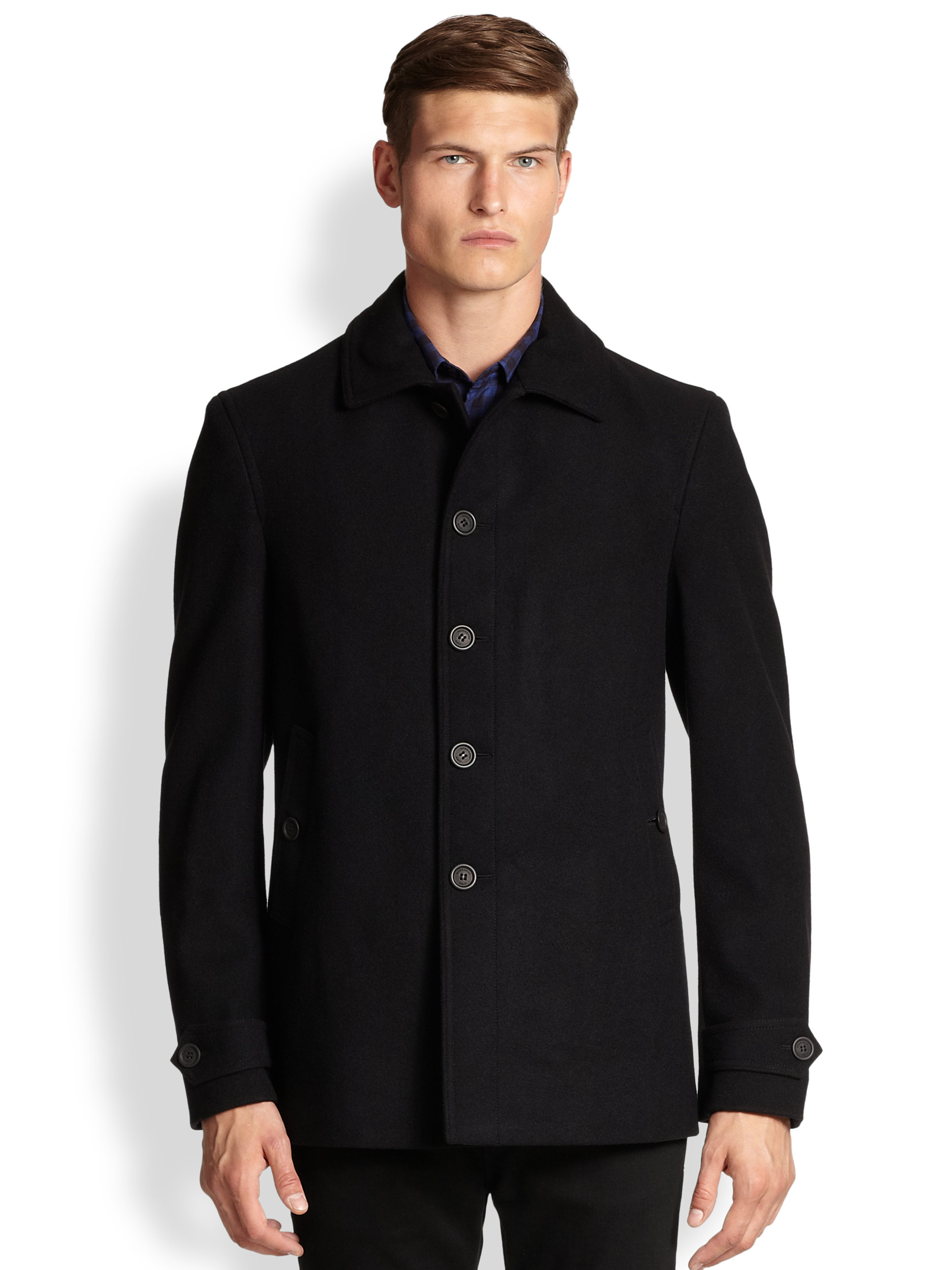 Burberry brit Elmscott Wool & Cashmere Car Coat in Black for Men ...