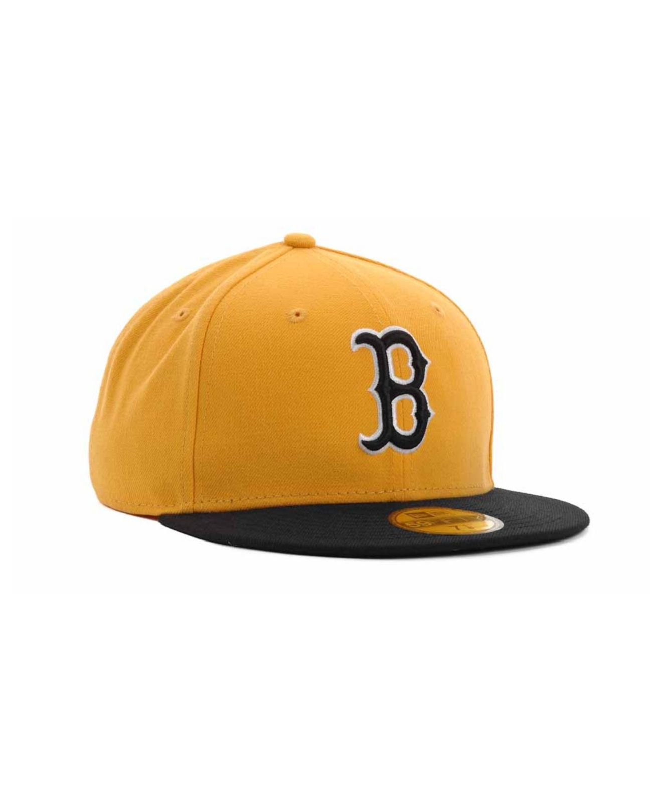 9fc689d9adc041 ... ireland lyst ktz boston red sox 2 tone 59fifty cap in yellow for men  df85f c03d9 ...