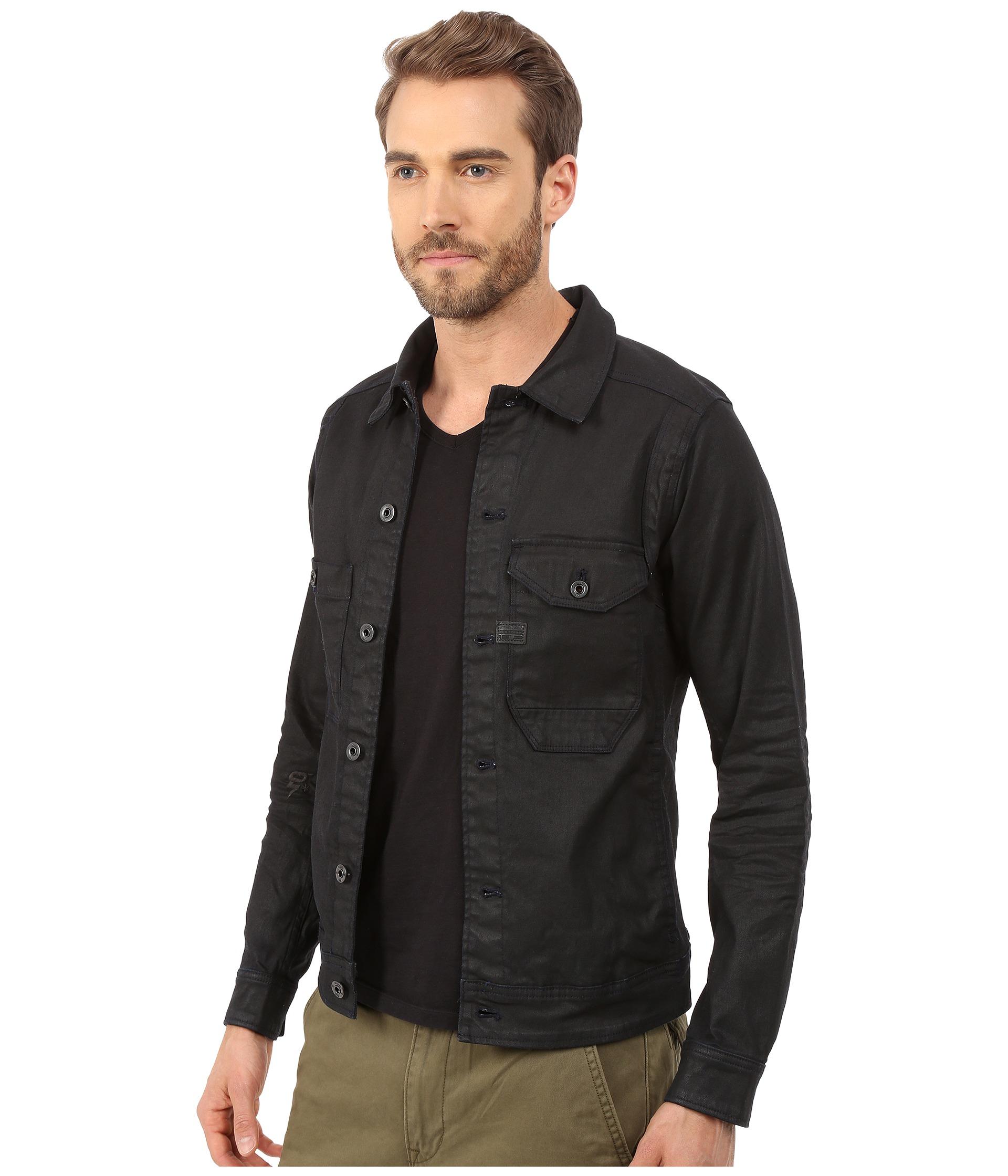 16f4b9b1ee341 Lyst - G-Star RAW Wolker 3d Slim Jacket in Black for Men