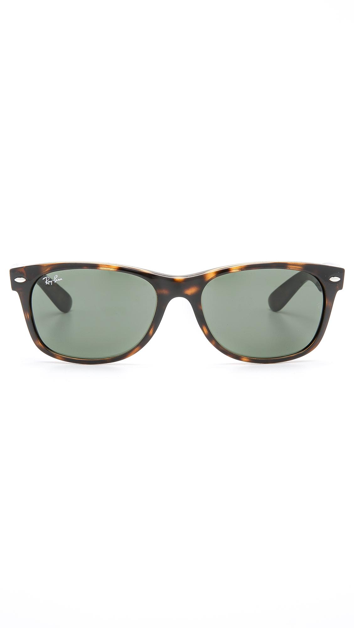 Ray Ban Glasses Frames Green : Ray-ban New Wayfarer Sunglasses in Green for Men Lyst