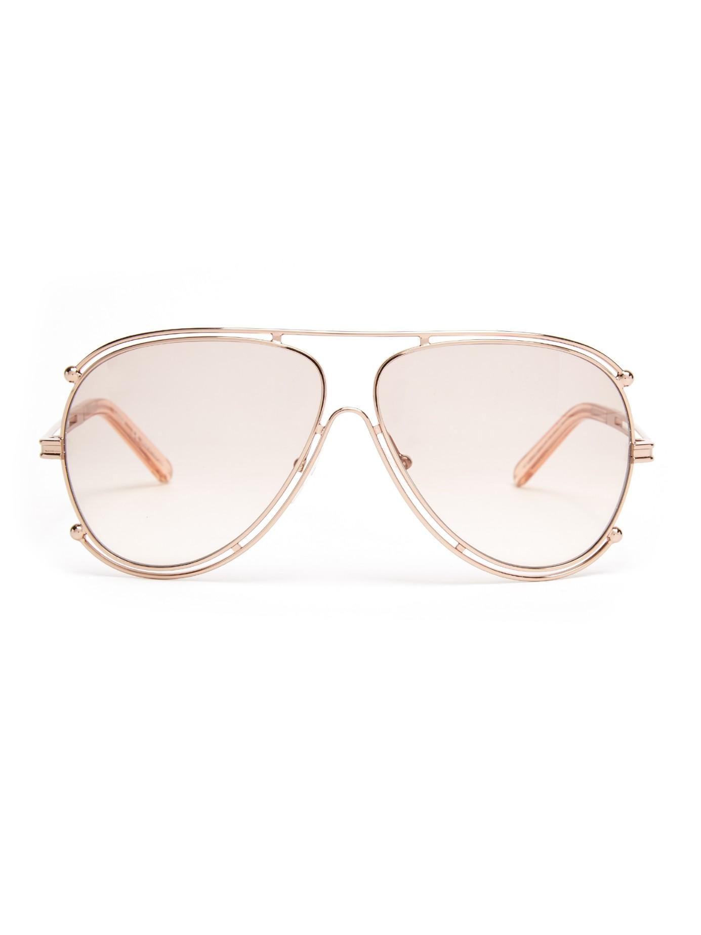 70779490b1f Chloé Isidora Aviator Sunglasses in Pink - Lyst