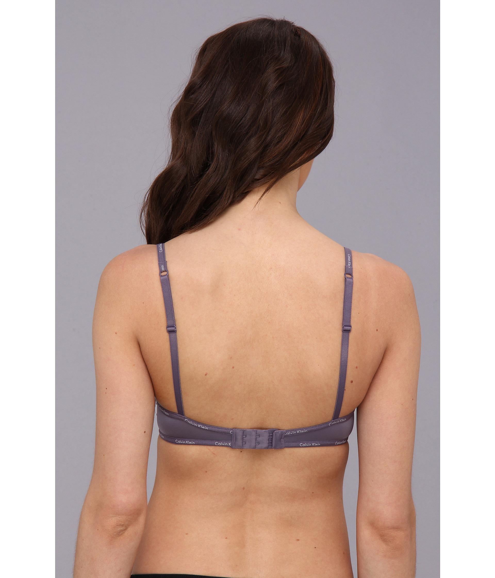 66e47a965925b Lyst - Calvin Klein Perfectly Fit Sexy Signature Demi Bra in Purple