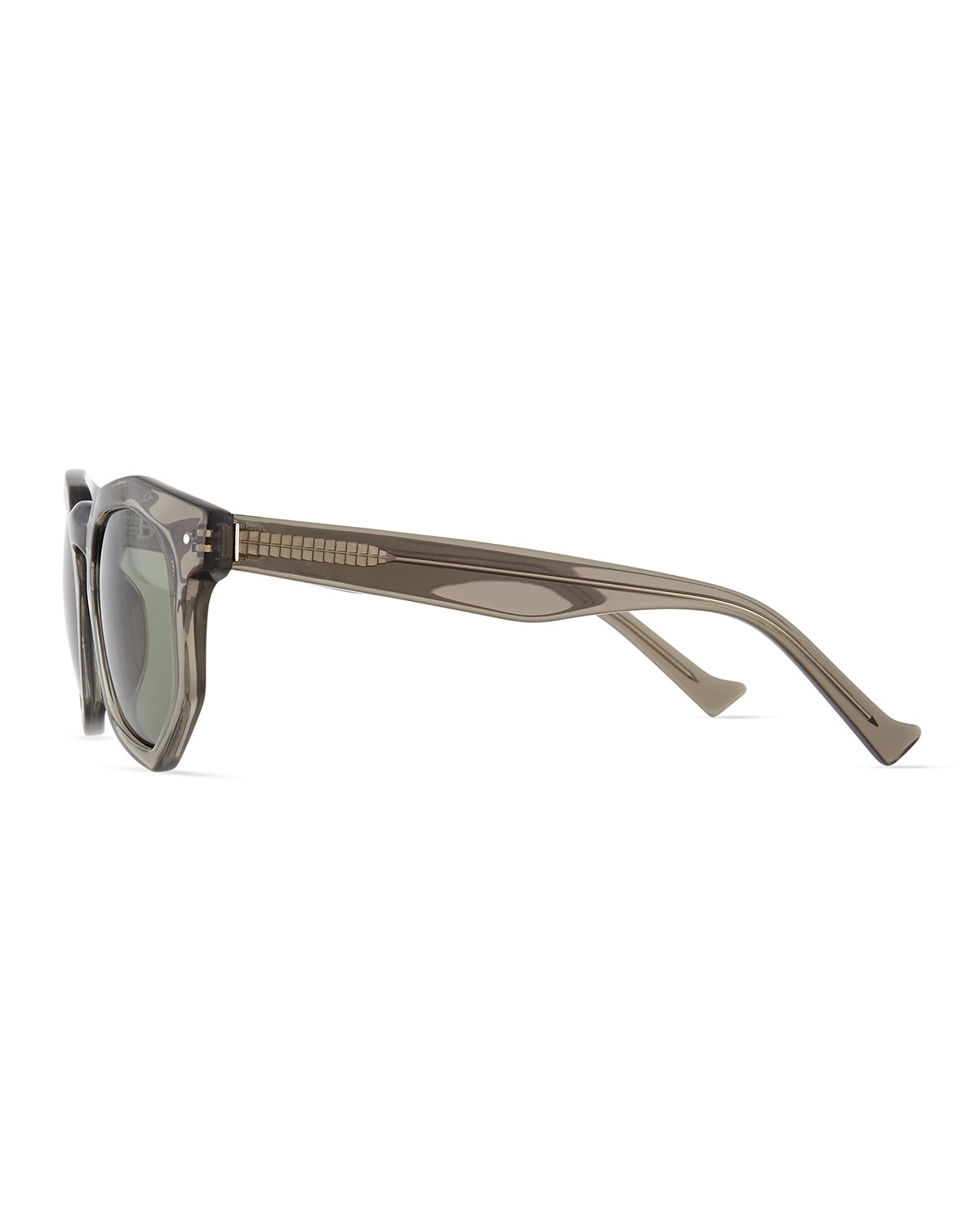 98b81625ede Lyst - Grey Ant Composite Faceted Plastic Sunglasses in Gray