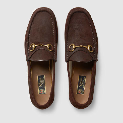 00d96bc22b9 Lyst - Gucci 1953 Horsebit Suede Loafer in Brown for Men