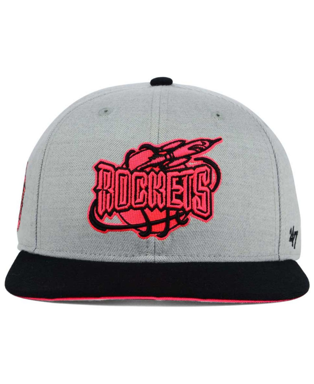 Lyst - 47 Brand Houston Rockets Wrist Shot Snapback Cap in Gray for Men 2766ad1df7bf