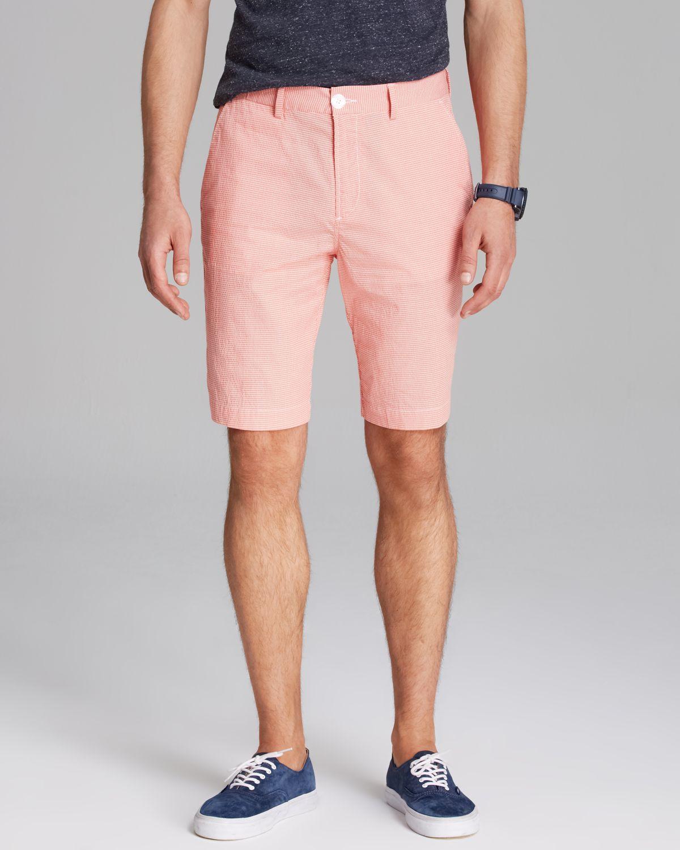 37f906ebf79b Lyst - Lacoste Check Seersucker Shorts in Pink for Men