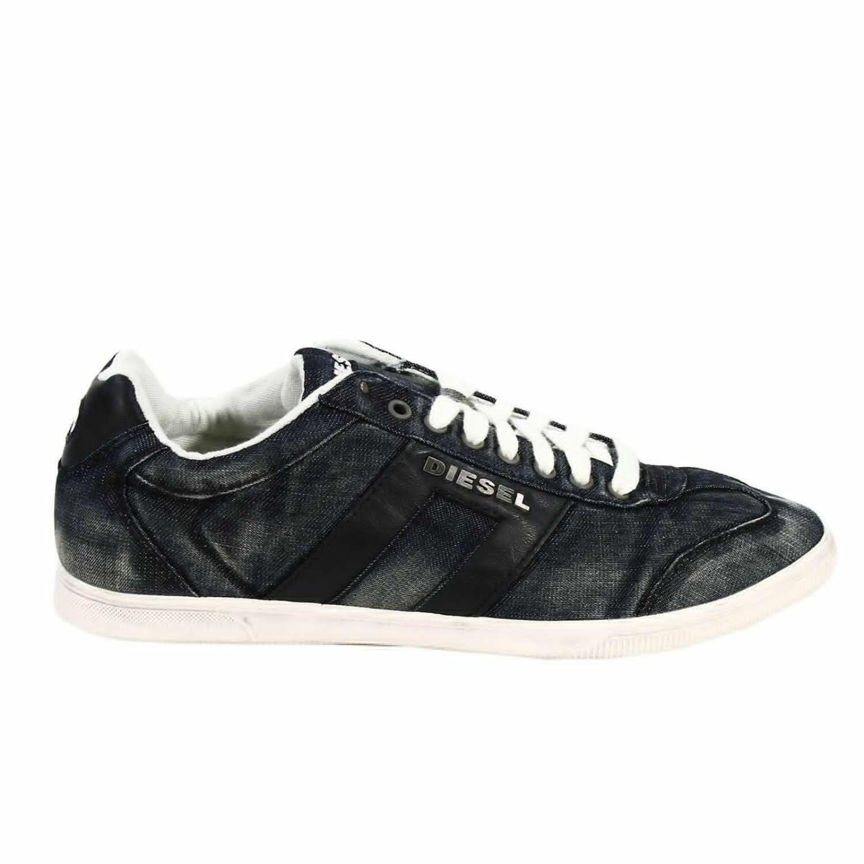 Diesel Shoes Vintagy Lounge Sneaker Denim Used in Black ...