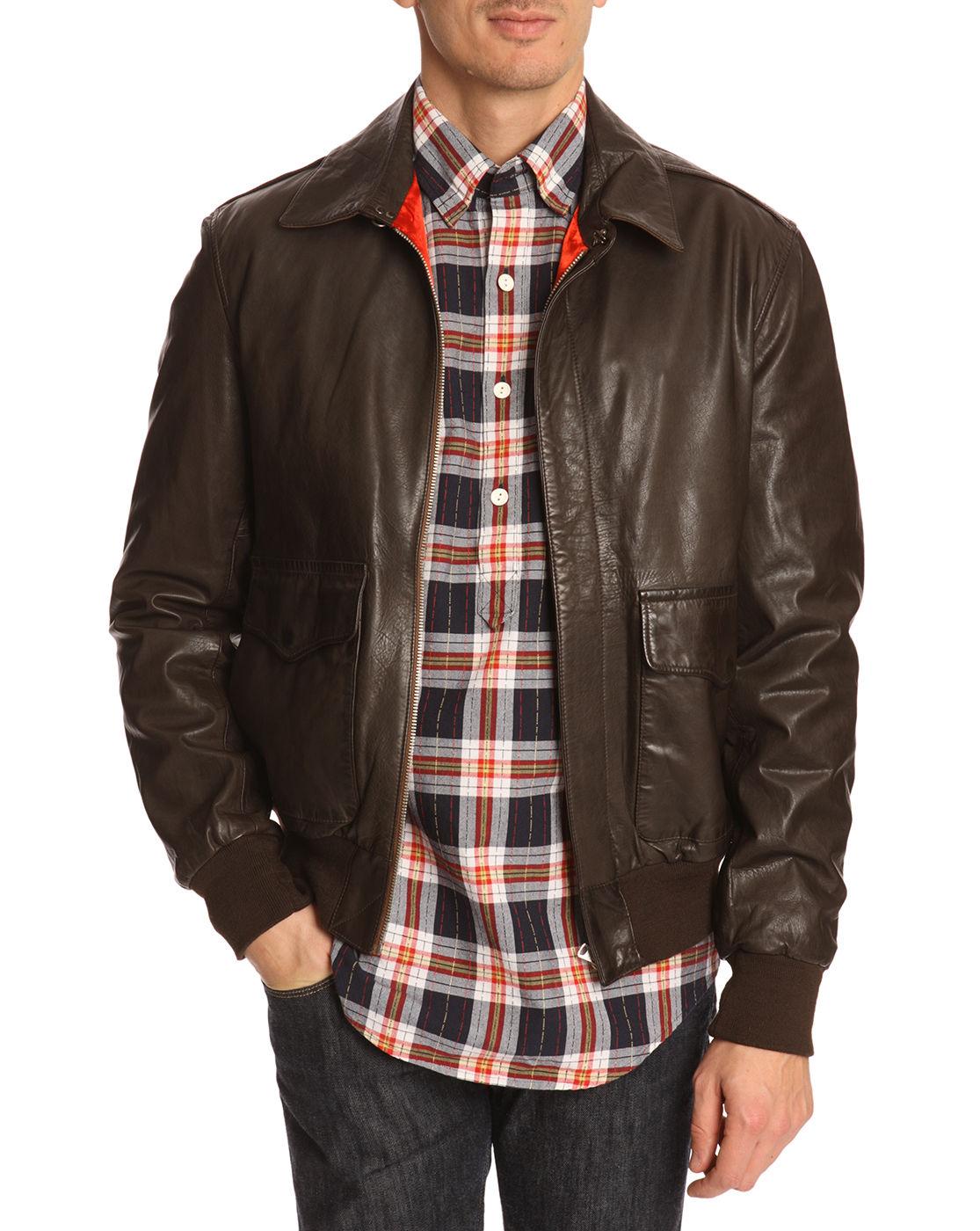Brown Leather Flight Jacket