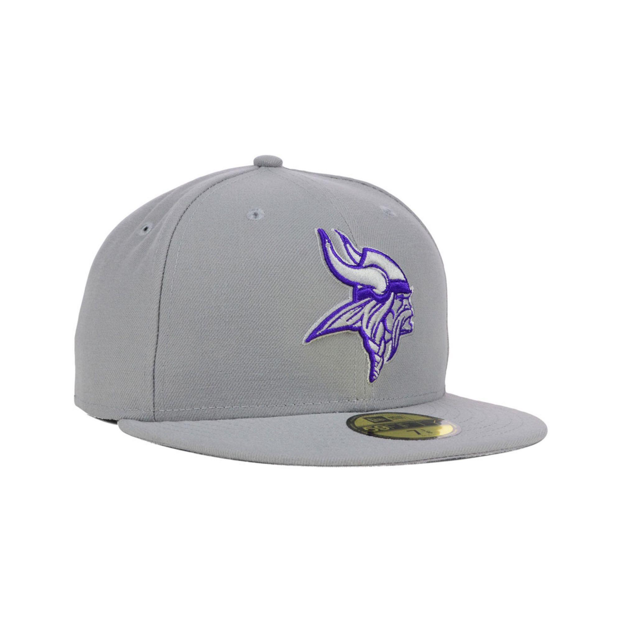 buy popular 62d89 7a037 ... where can i buy lyst ktz minnesota vikings pop gray basic 59fifty cap  in gray 55d0b