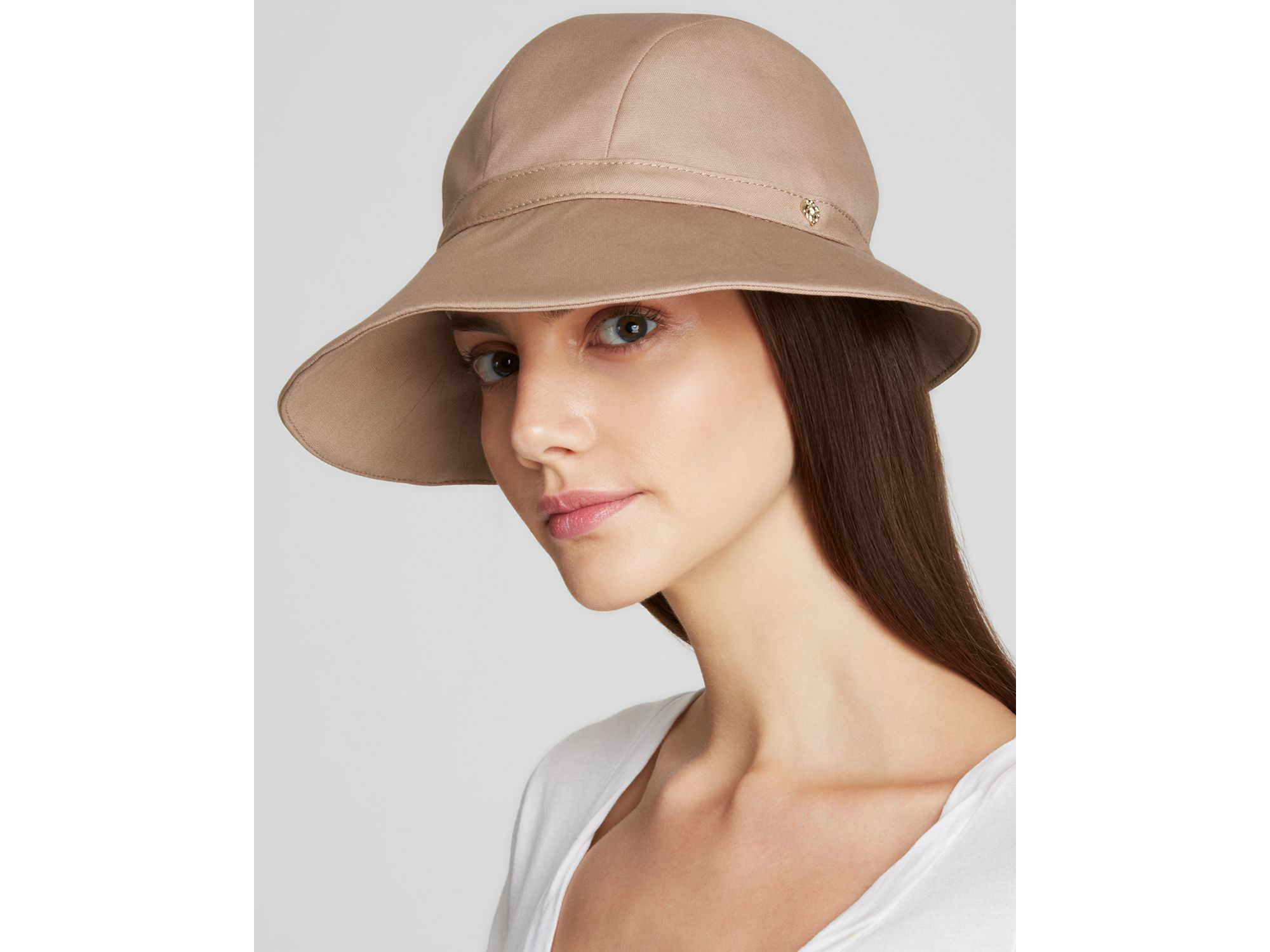 b65a820cb72 Lyst - Helen Kaminski Laguna Hat in Brown