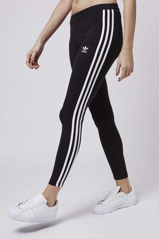 f29680667 TOPSHOP Three Stripe Leggings By Adidas Originals in Black - Lyst