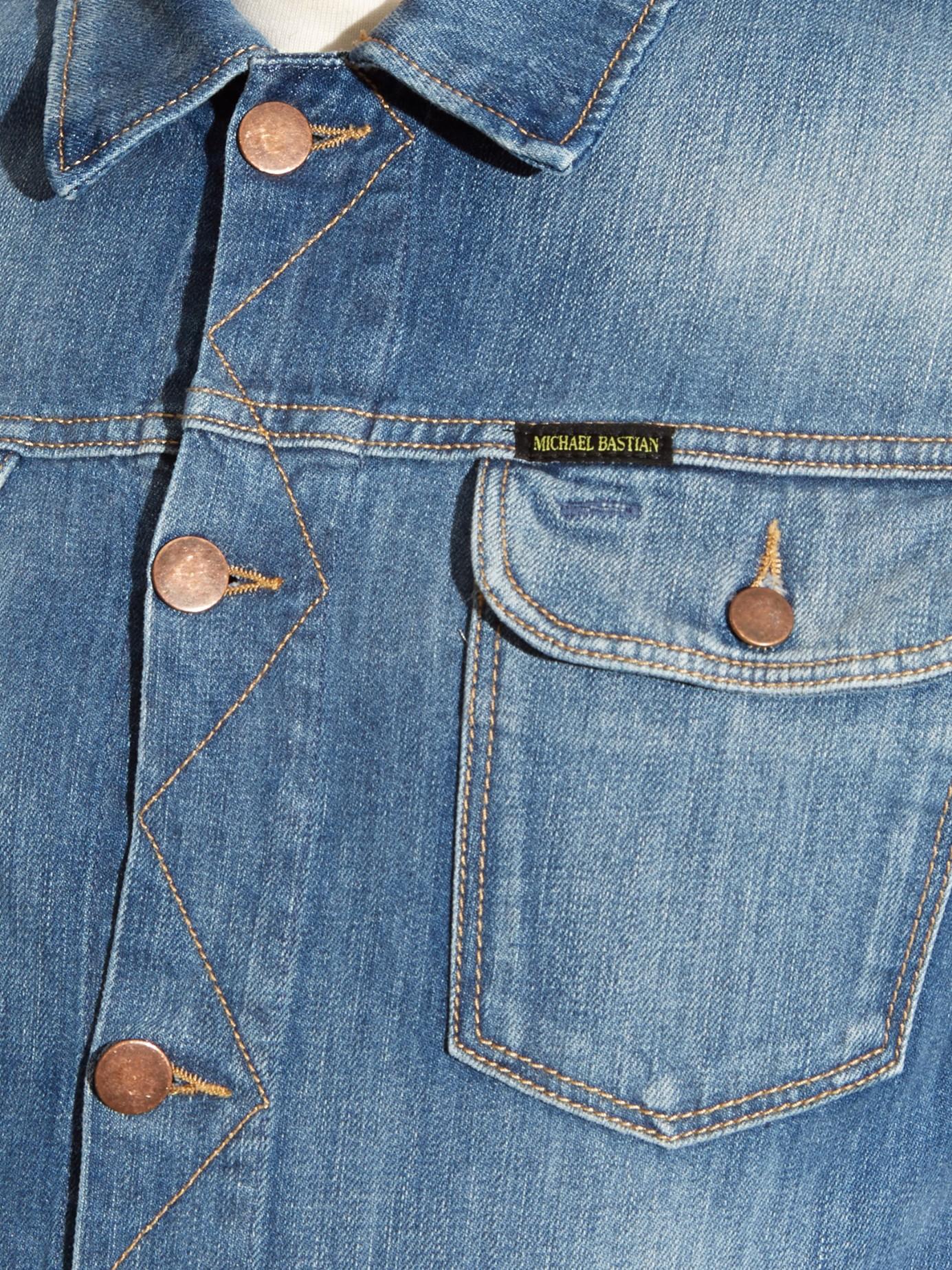 Michael Bastian Patch Pockets Denim Jacket In Blue For Men