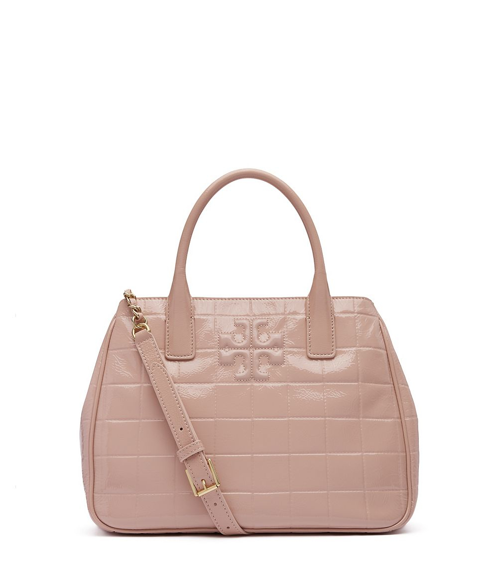 Tory Burch Marion Quilted Tote In Natural Lyst