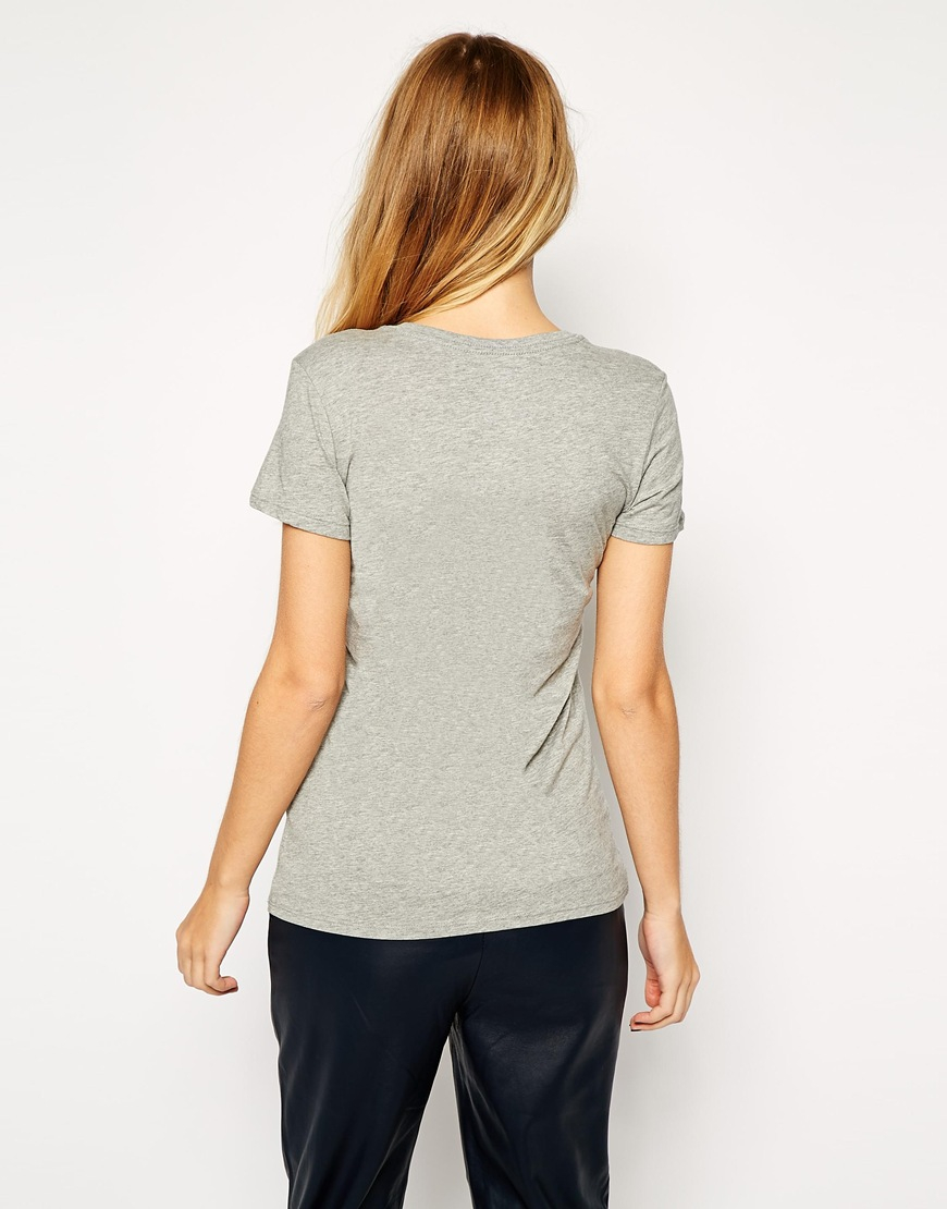 Nike Just Do It T Shirt In Gray Lyst