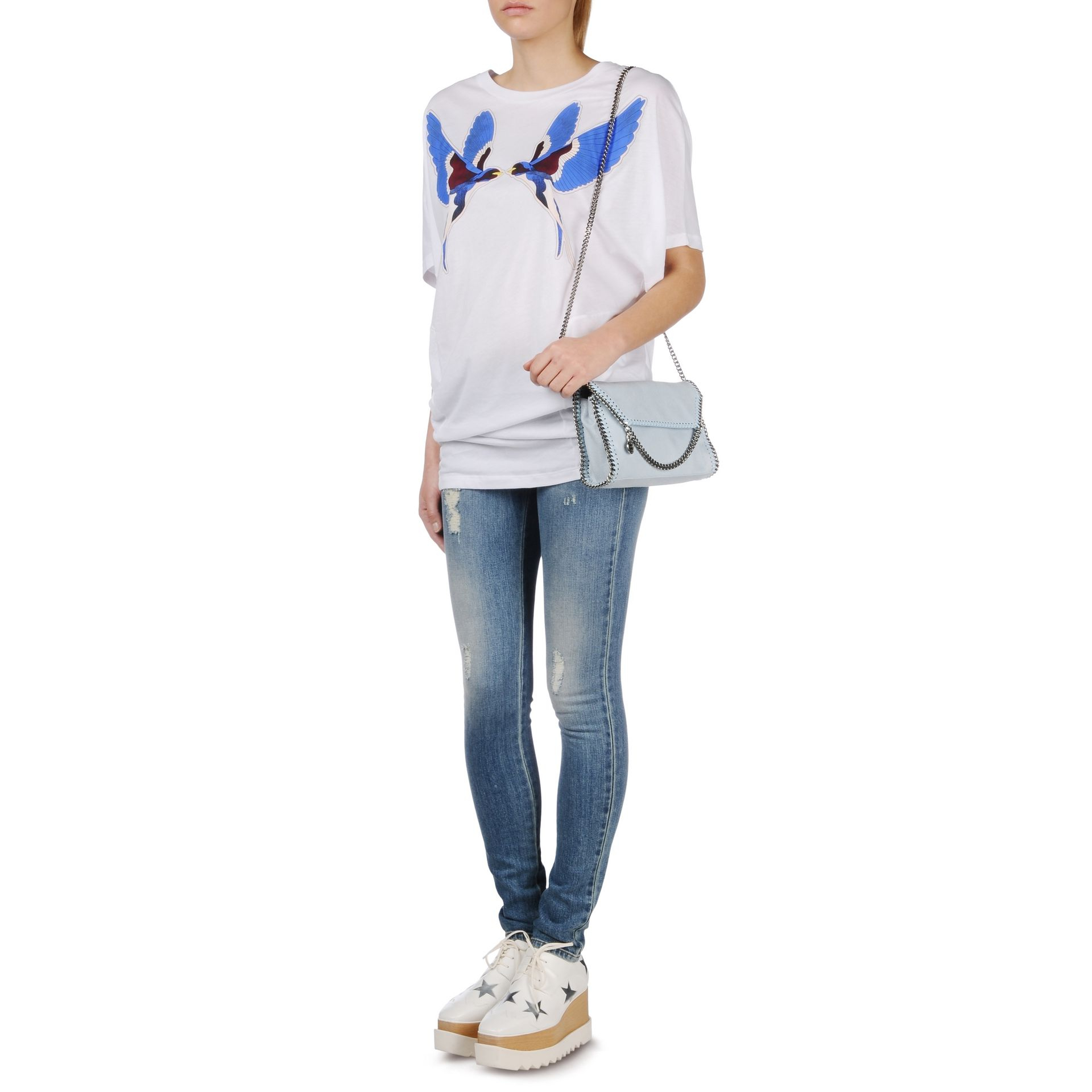 38df4305d262 Lyst - Stella McCartney Falabella Shaggy Deer Mini Bag in White