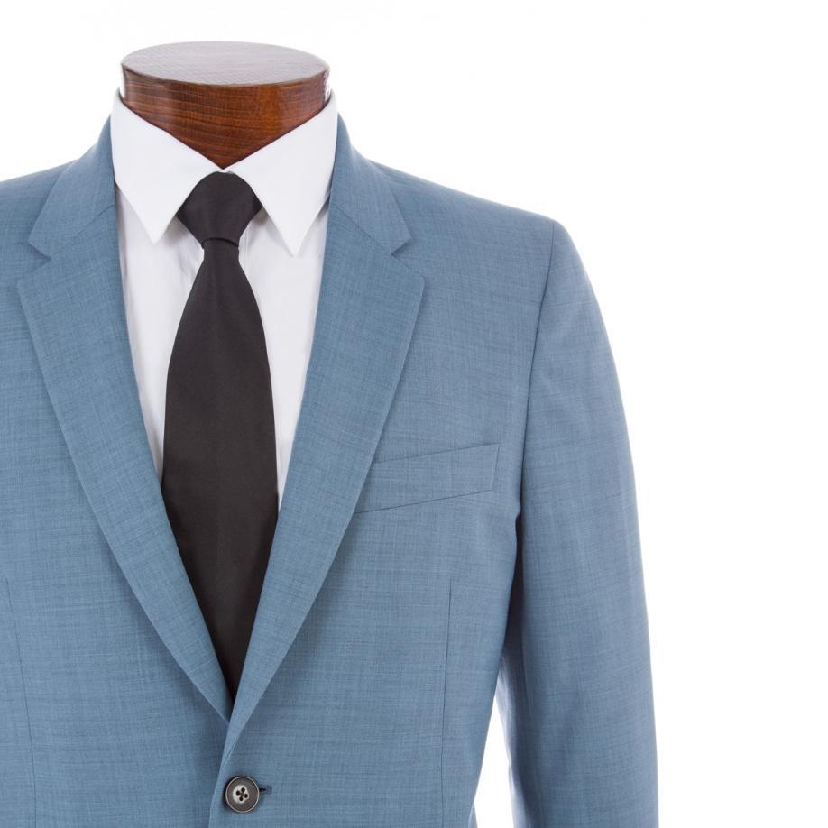 177a365890 Paul Smith Men's Slim-fit Sky Blue Crosshatch Wool-blend Suit in ...