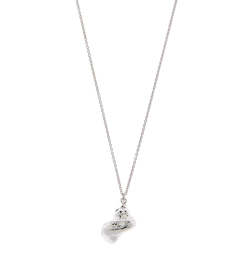 Alex monroe Engraved Shell Long Necklace in Metallic
