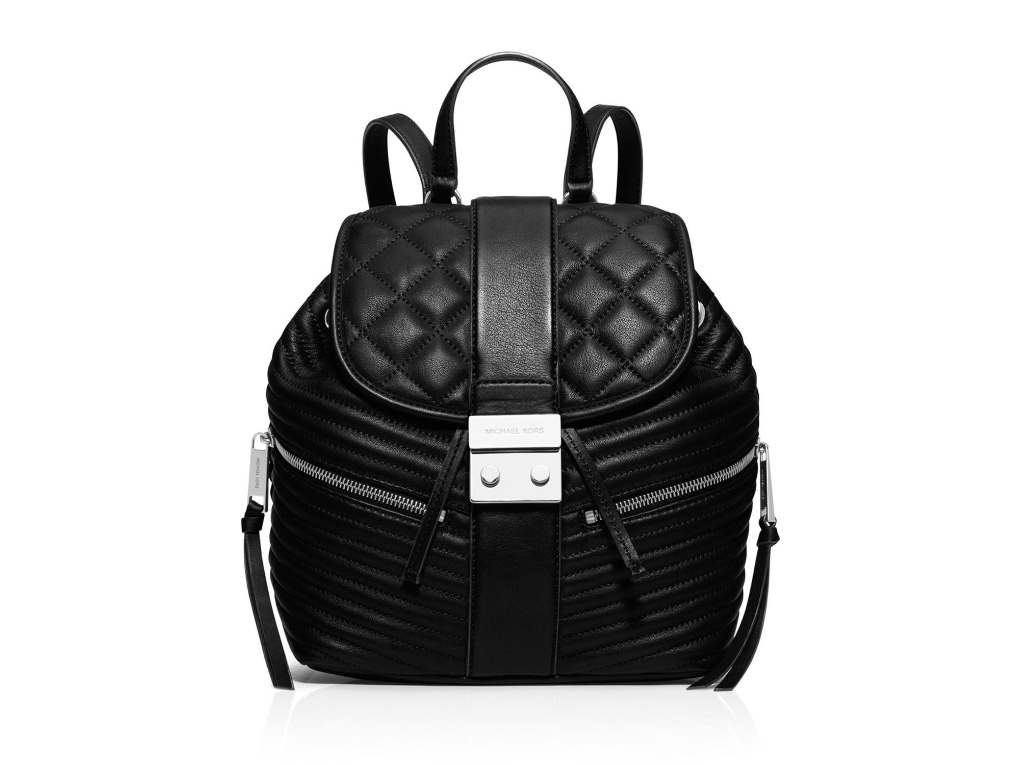 Michael michael kors Small Elisa Backpack in Black | Lyst