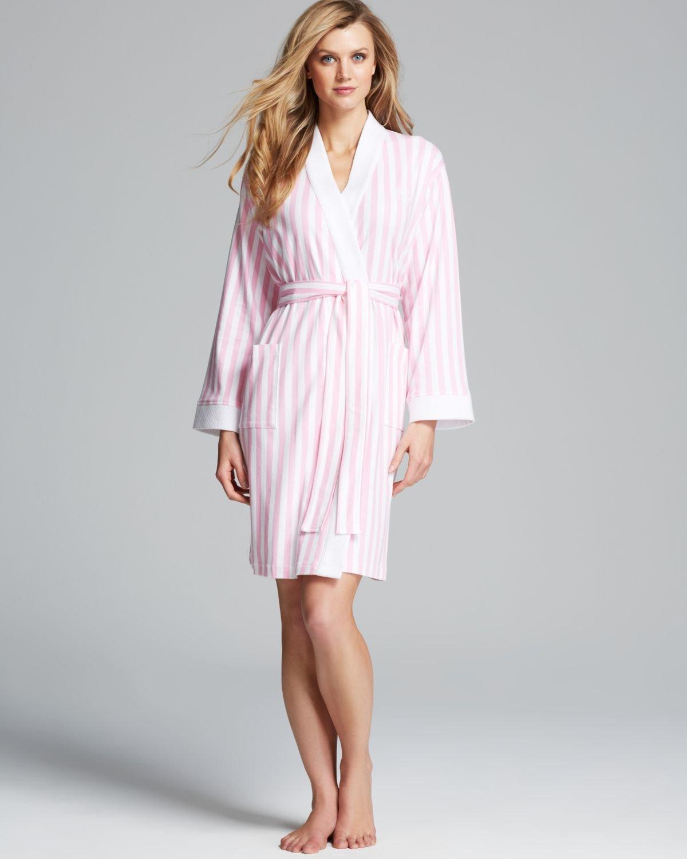 7baaaa7b2255 Ralph Lauren Lauren Emerald Dune Short Kimono Robe in Pink - Lyst