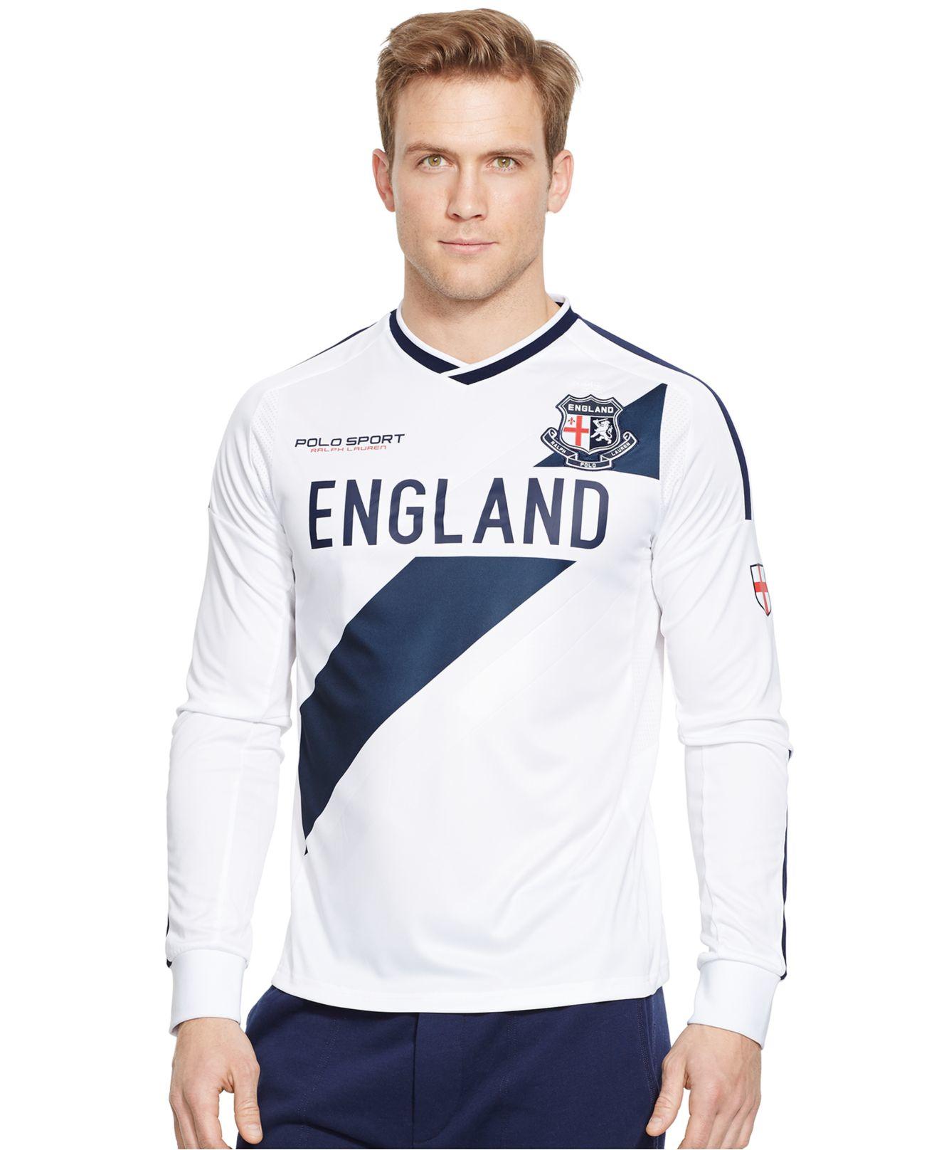 Polo ralph lauren polo sport england jersey t shirt in for Ralph lauren polo jersey shirt