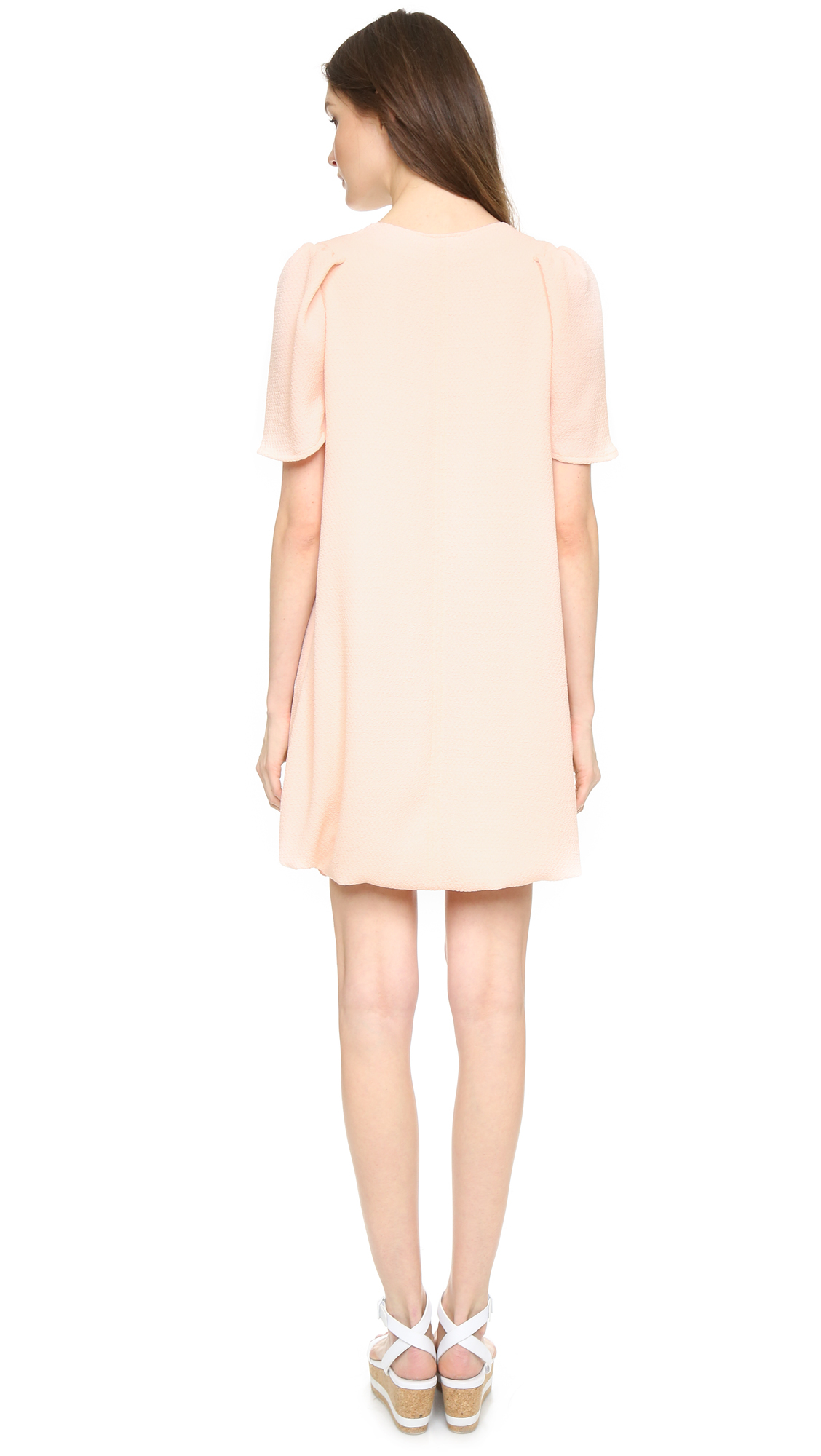 See By Chlo 233 Bottom Tie Dress Peach Whip In Pink Peach