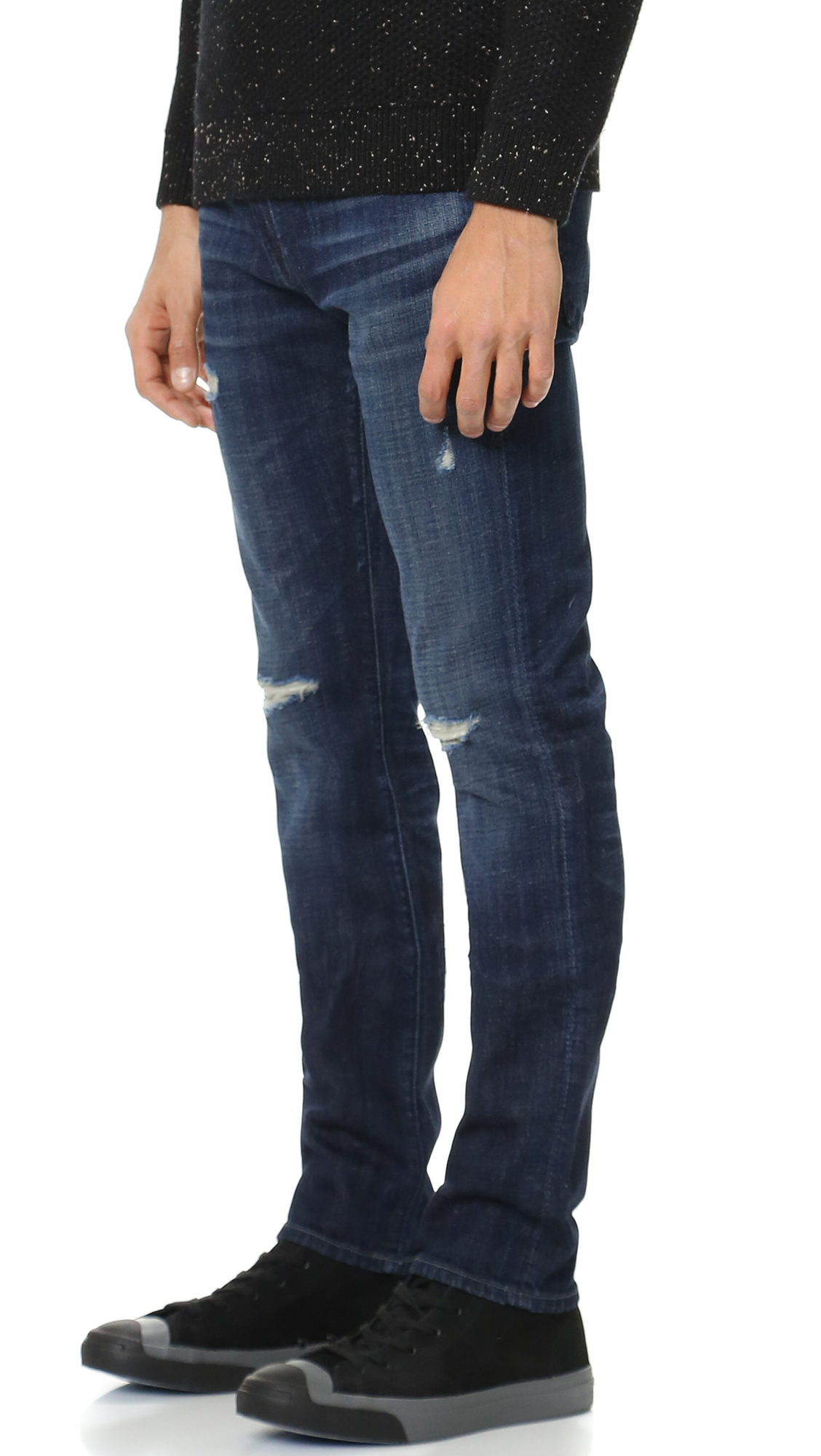 7 for all mankind Paxtyn Tapered Skinny Jeans in Blue for Men | Lyst